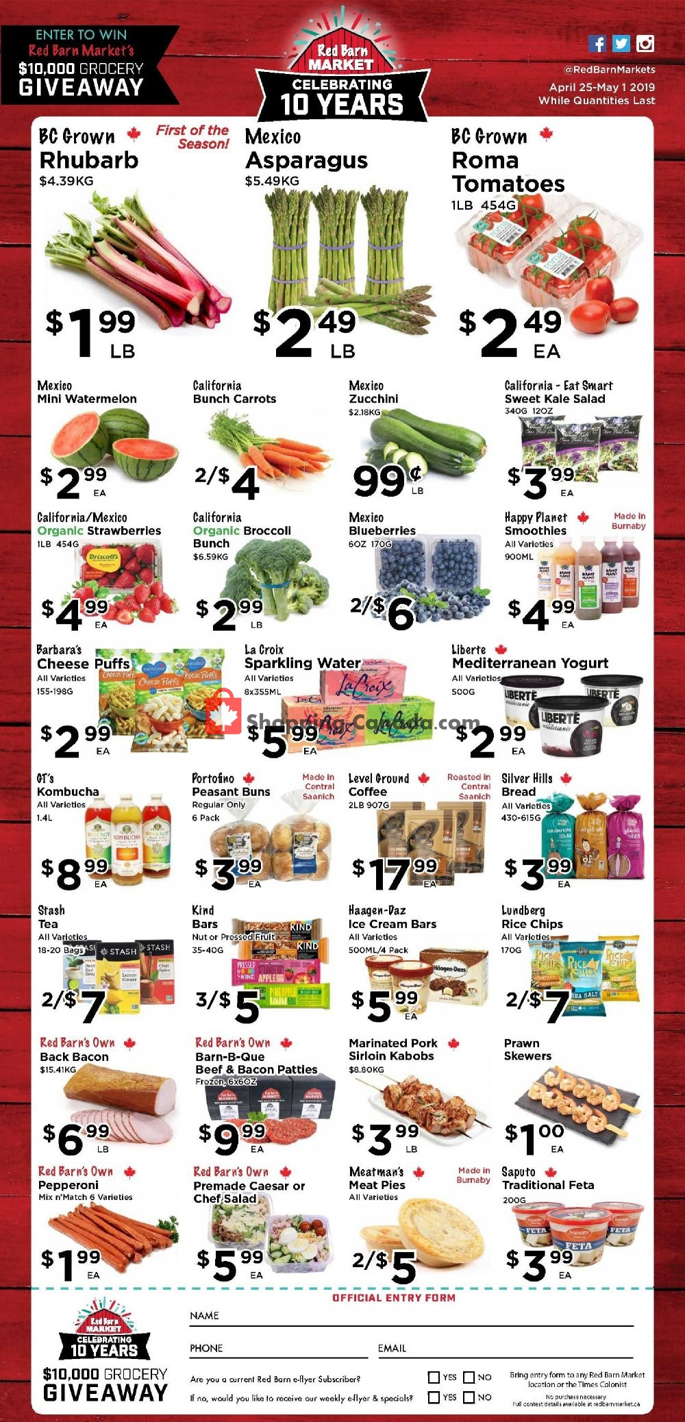 Flyer Red Barn Market Canada - from Thursday April 25, 2019 to Wednesday May 1, 2019