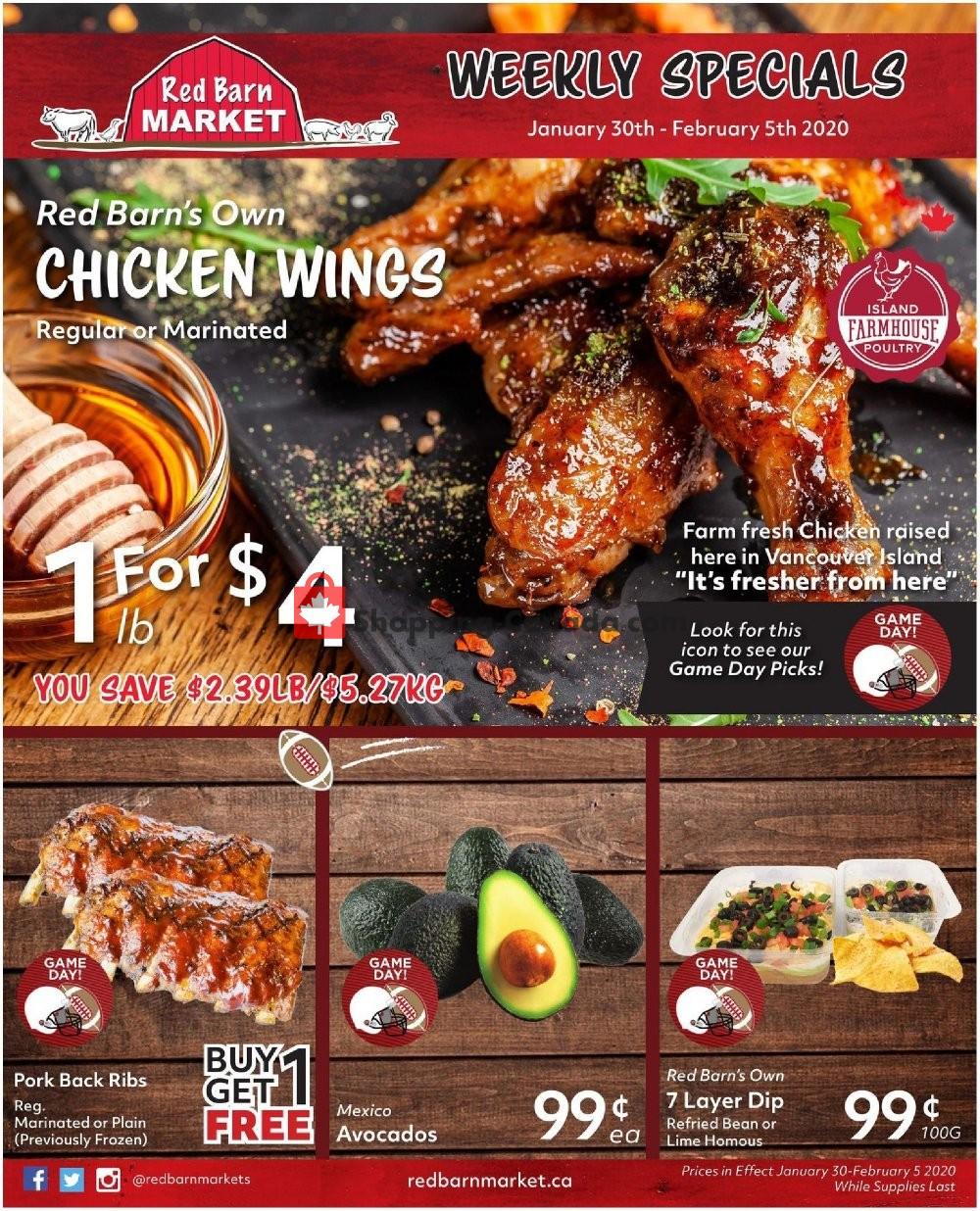 Flyer Red Barn Market Canada - from Thursday January 30, 2020 to Wednesday February 5, 2020