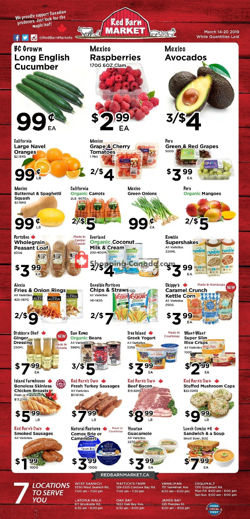 Flyer Red Barn Market Canada - from Thursday March 14, 2019 to Wednesday March 20, 2019
