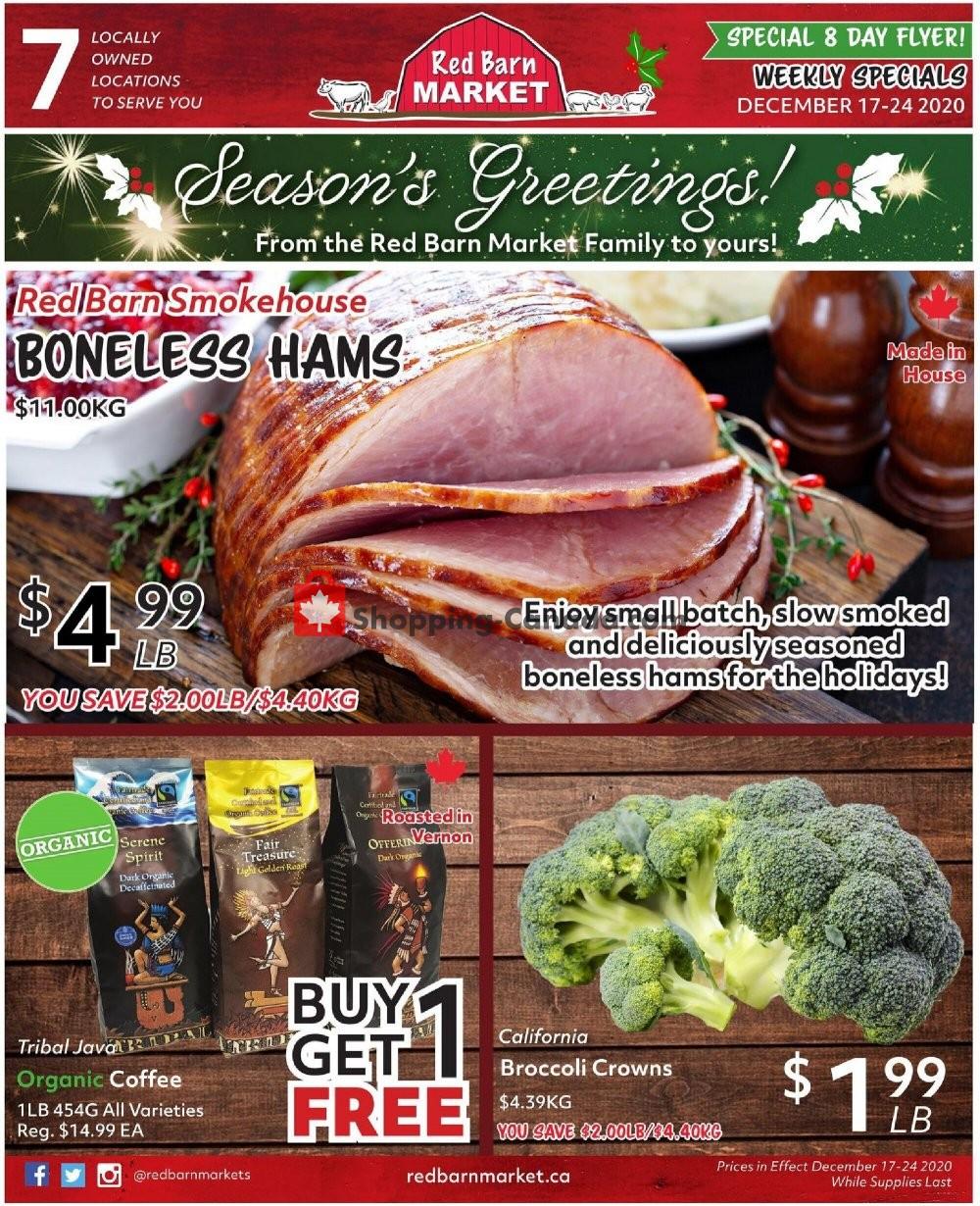 Flyer Red Barn Market Canada - from Thursday December 17, 2020 to Thursday December 24, 2020