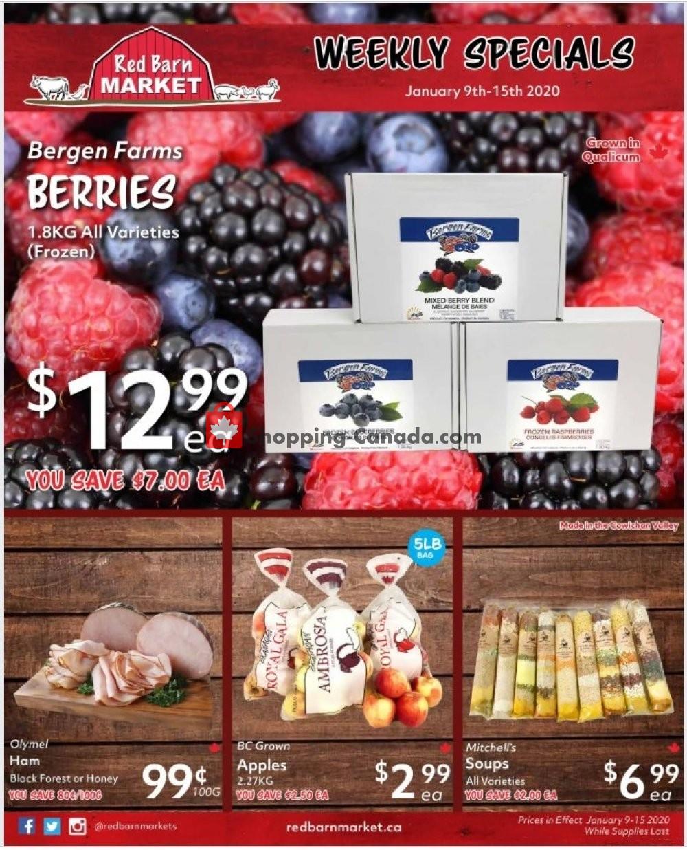 Flyer Red Barn Market Canada - from Thursday January 9, 2020 to Wednesday January 15, 2020