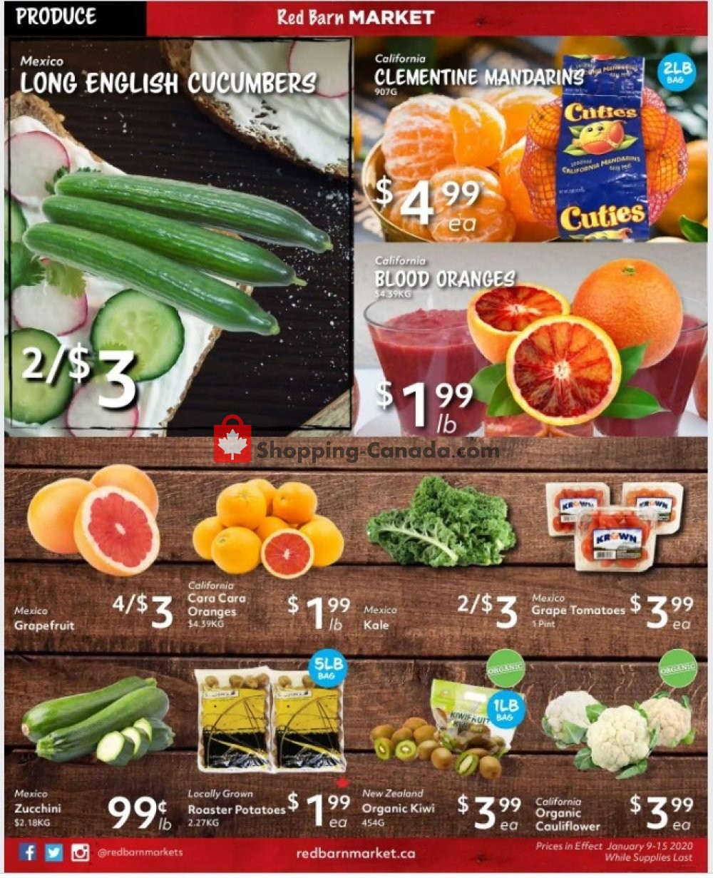 Flyer Red Barn Market Canada - from Thursday January 9, 2020 to Wednesday January 15, 2020