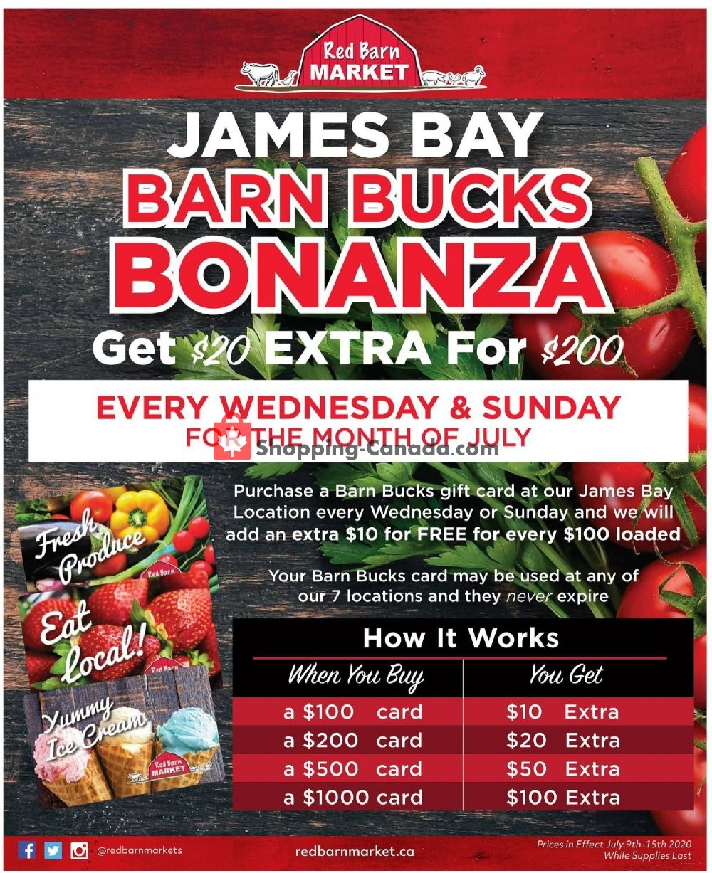 Flyer Red Barn Market Canada - from Thursday July 9, 2020 to Wednesday July 15, 2020