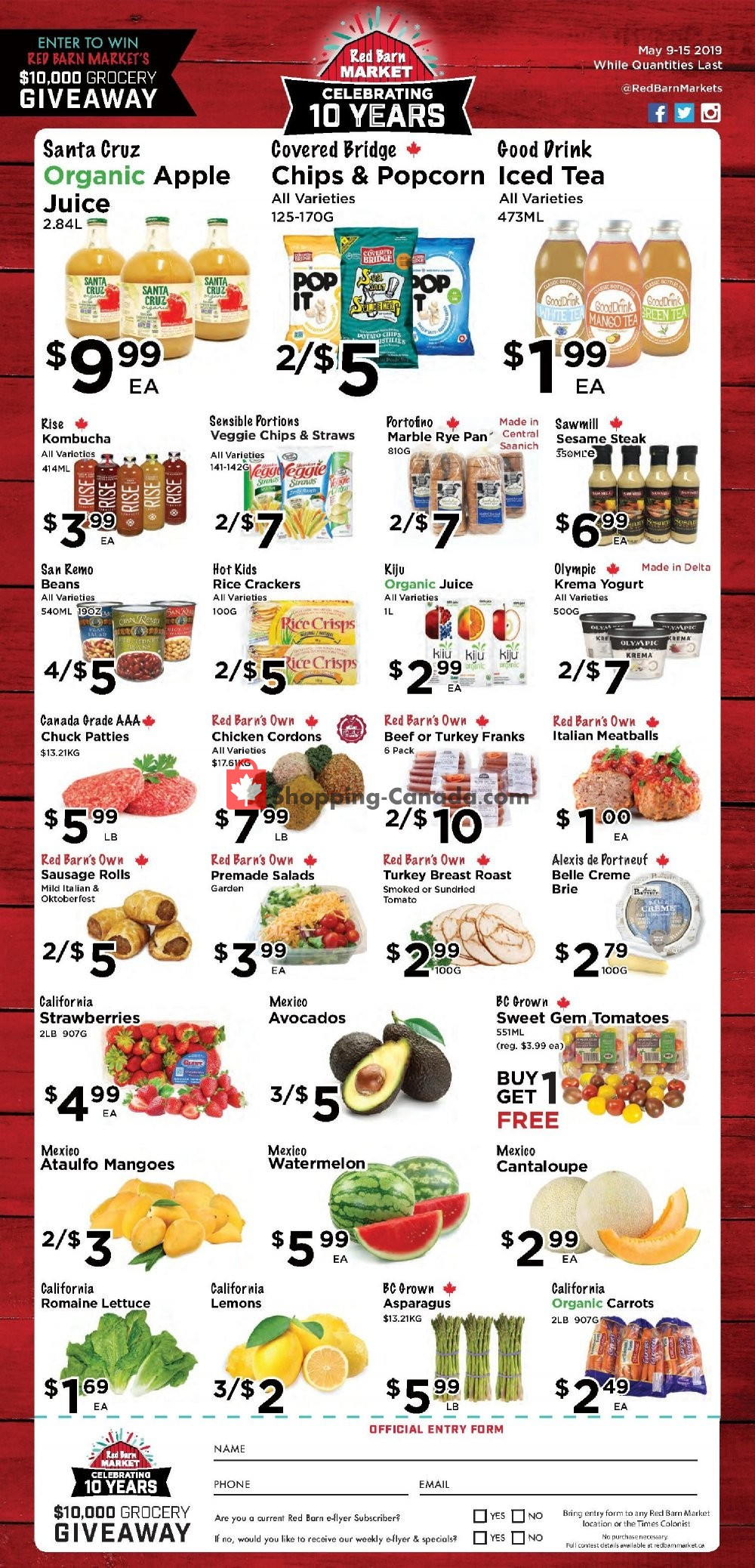 Flyer Red Barn Market Canada - from Thursday May 9, 2019 to Wednesday May 15, 2019