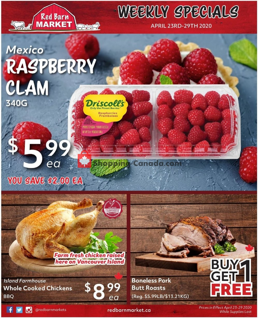 Flyer Red Barn Market Canada - from Thursday April 23, 2020 to Wednesday April 29, 2020