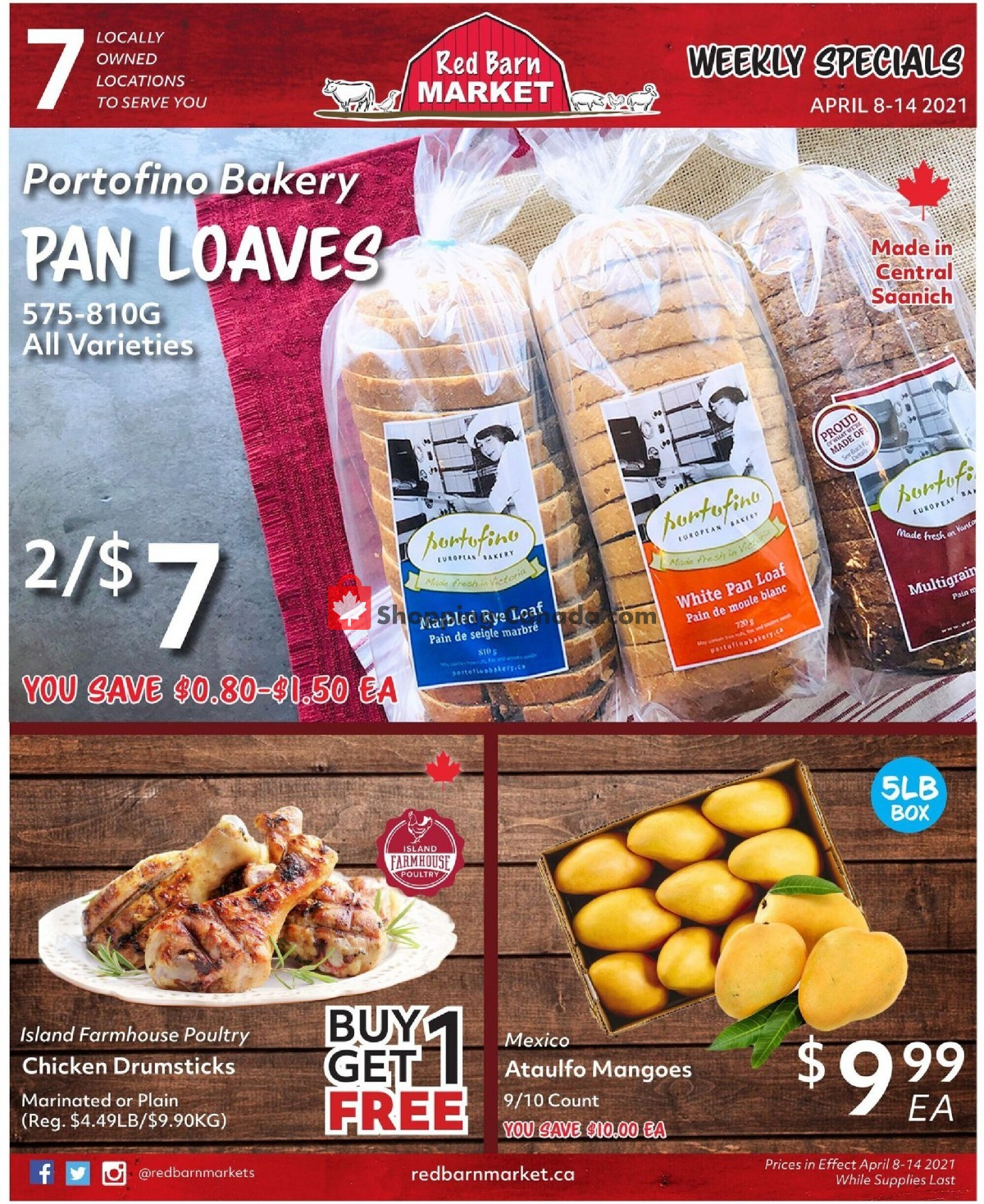 Flyer Red Barn Market Canada - from Thursday April 8, 2021 to Wednesday April 14, 2021