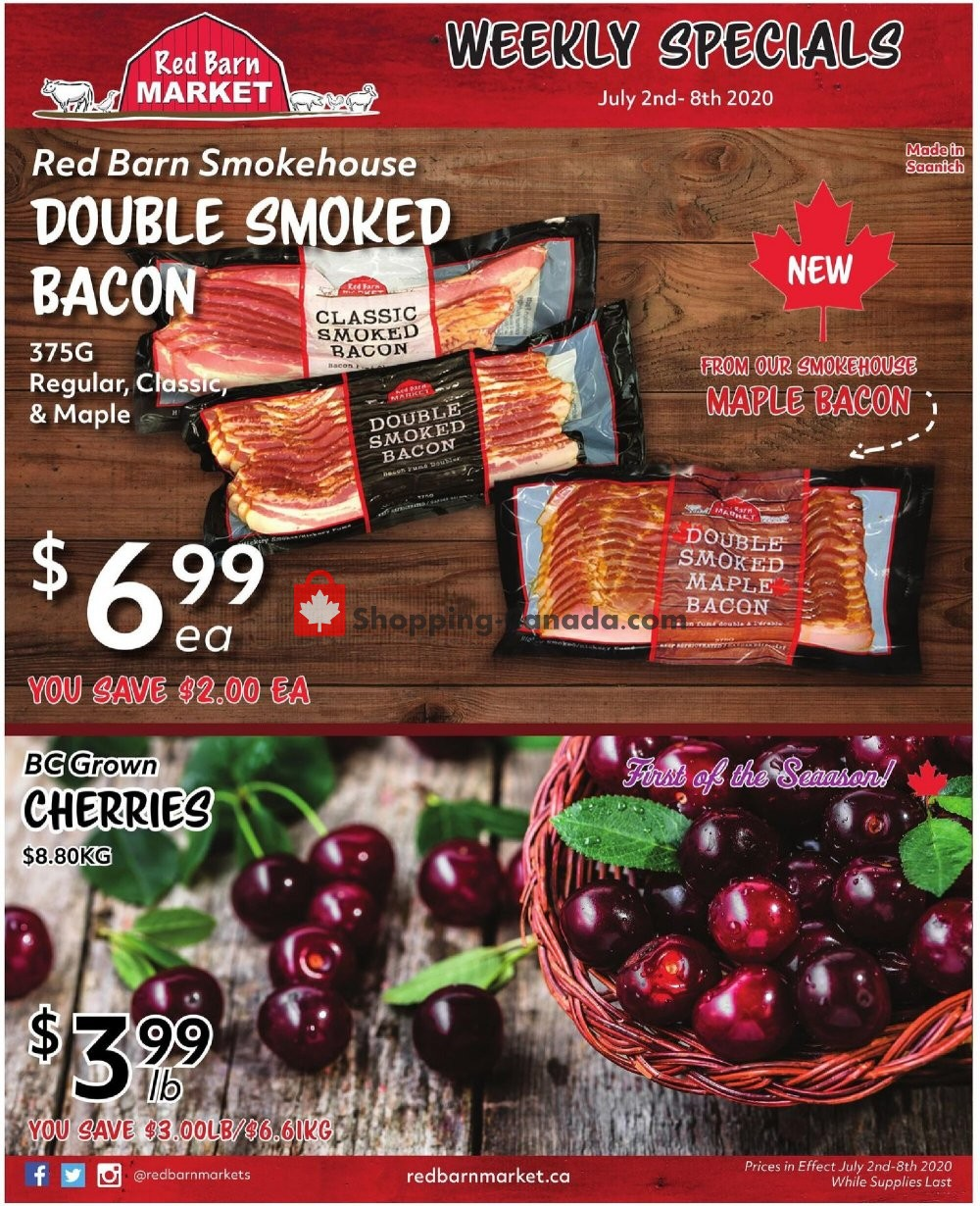 Flyer Red Barn Market Canada - from Thursday July 2, 2020 to Wednesday July 8, 2020