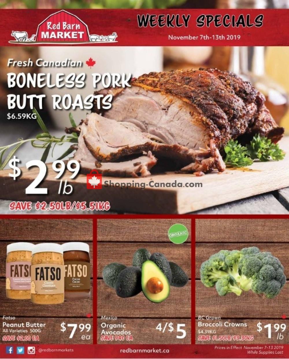 Flyer Red Barn Market Canada - from Thursday November 7, 2019 to Wednesday November 13, 2019