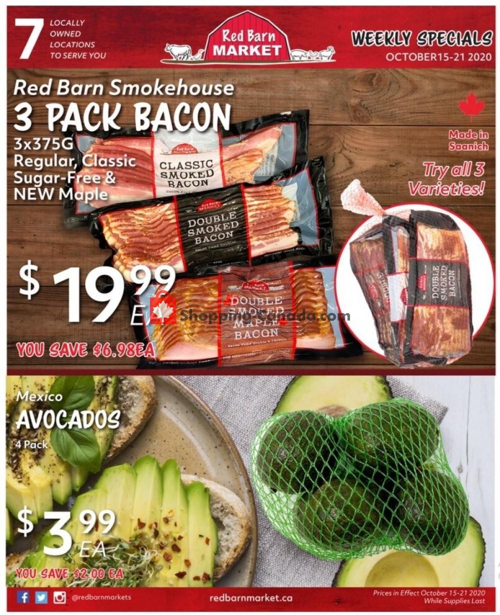 Flyer Red Barn Market Canada - from Thursday October 15, 2020 to Wednesday October 21, 2020