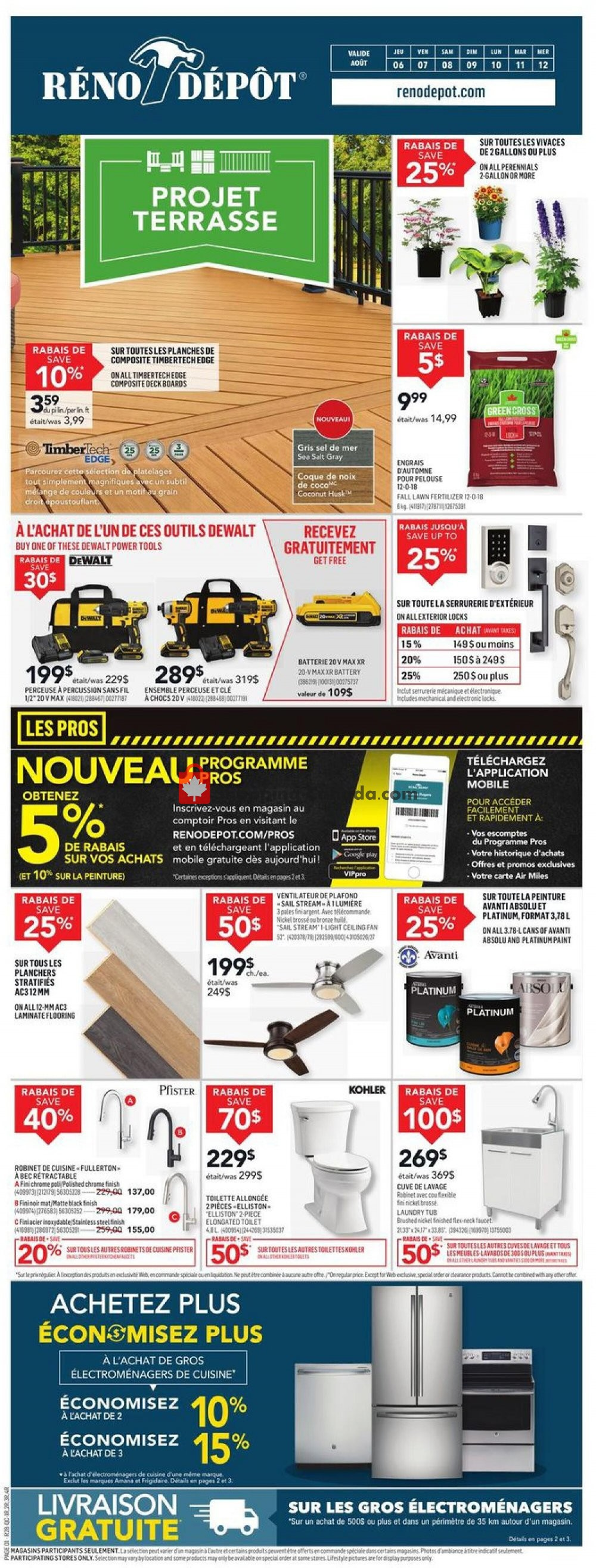 Flyer Réno Dépôt Canada - from Thursday August 6, 2020 to Wednesday August 12, 2020