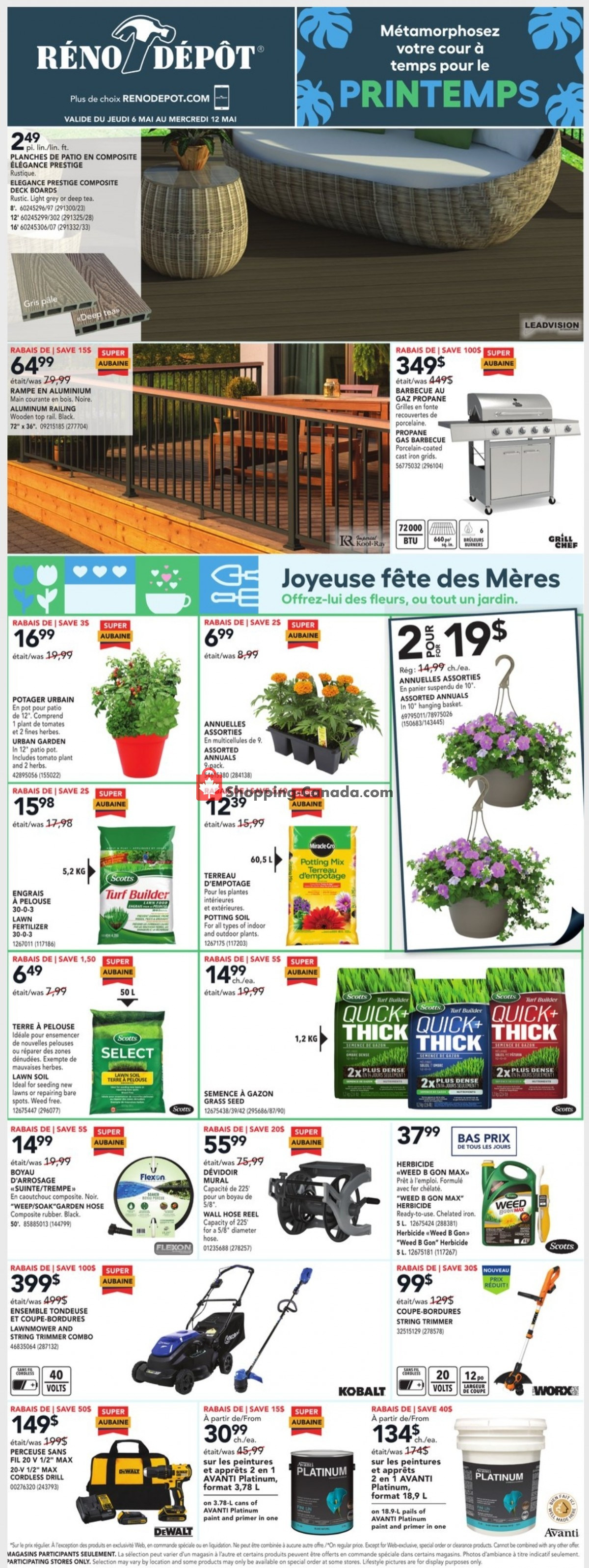 Flyer Réno Dépôt Canada - from Thursday May 6, 2021 to Wednesday May 12, 2021