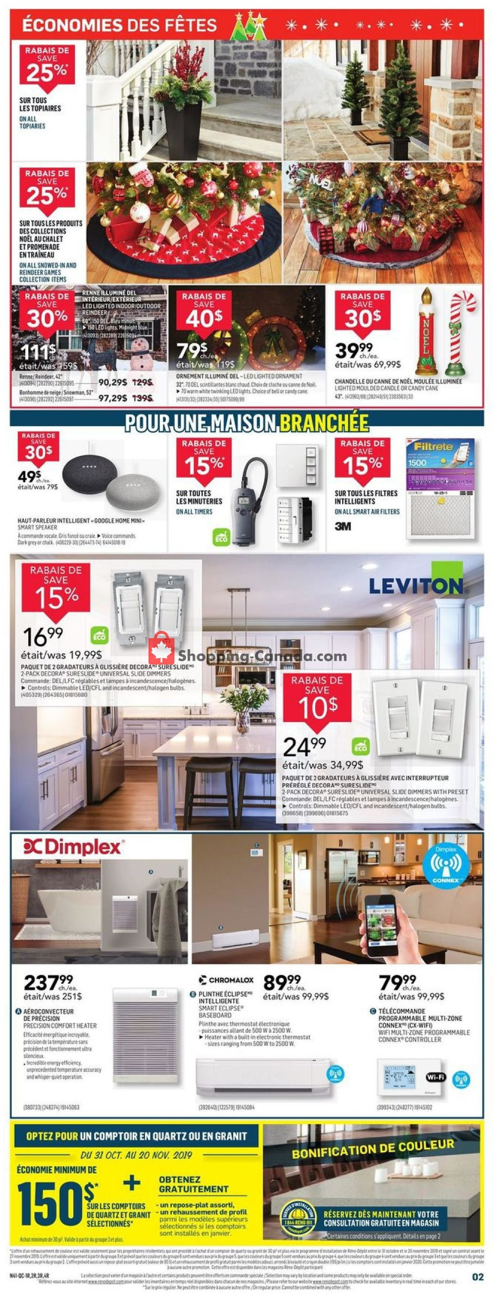 Flyer Réno Dépôt Canada - from Thursday November 7, 2019 to Wednesday November 13, 2019