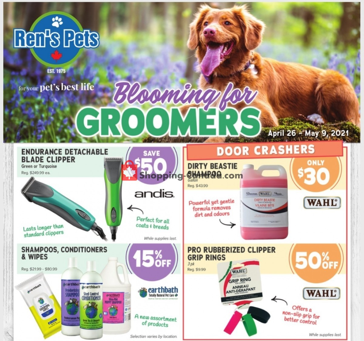 Flyer Ren's Pets Depot Canada - from Monday April 26, 2021 to Sunday May 9, 2021