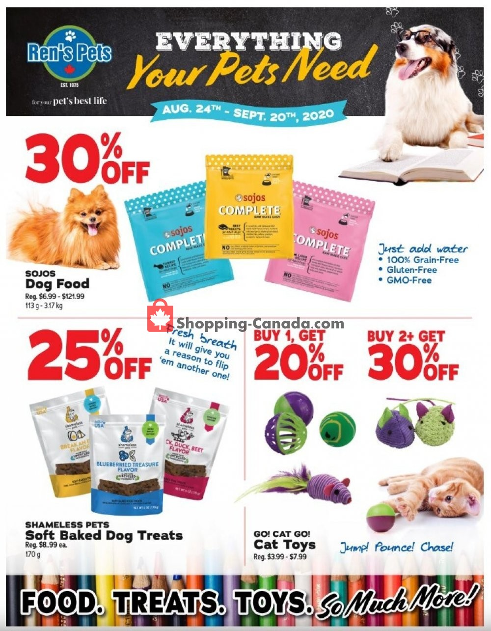 Ren S Pets Depot Canada Flyer Everything Your Pets Need August 24 September 20 2020 Shopping Canada