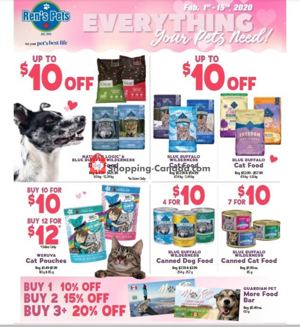 Flyer Ren's Pets Depot Canada - from Saturday February 1, 2020 to Saturday February 15, 2020