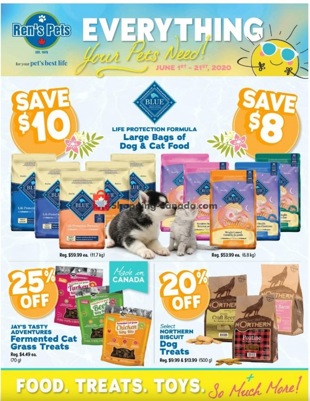 Flyer Ren's Pets Depot Canada - from Monday June 1, 2020 to Sunday June 21, 2020
