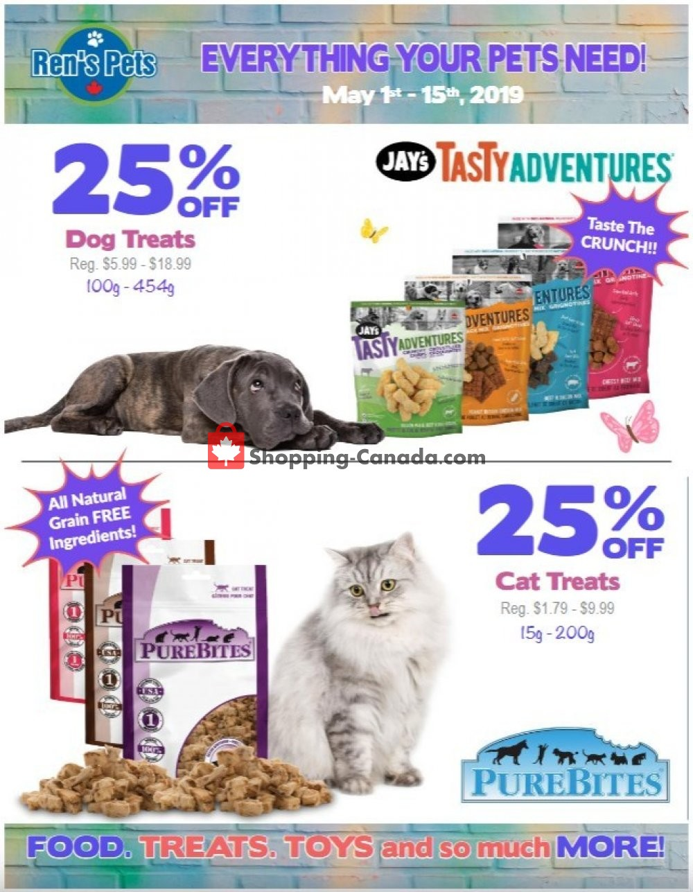 Flyer Ren's Pets Depot Canada - from Wednesday May 1, 2019 to Wednesday May 15, 2019