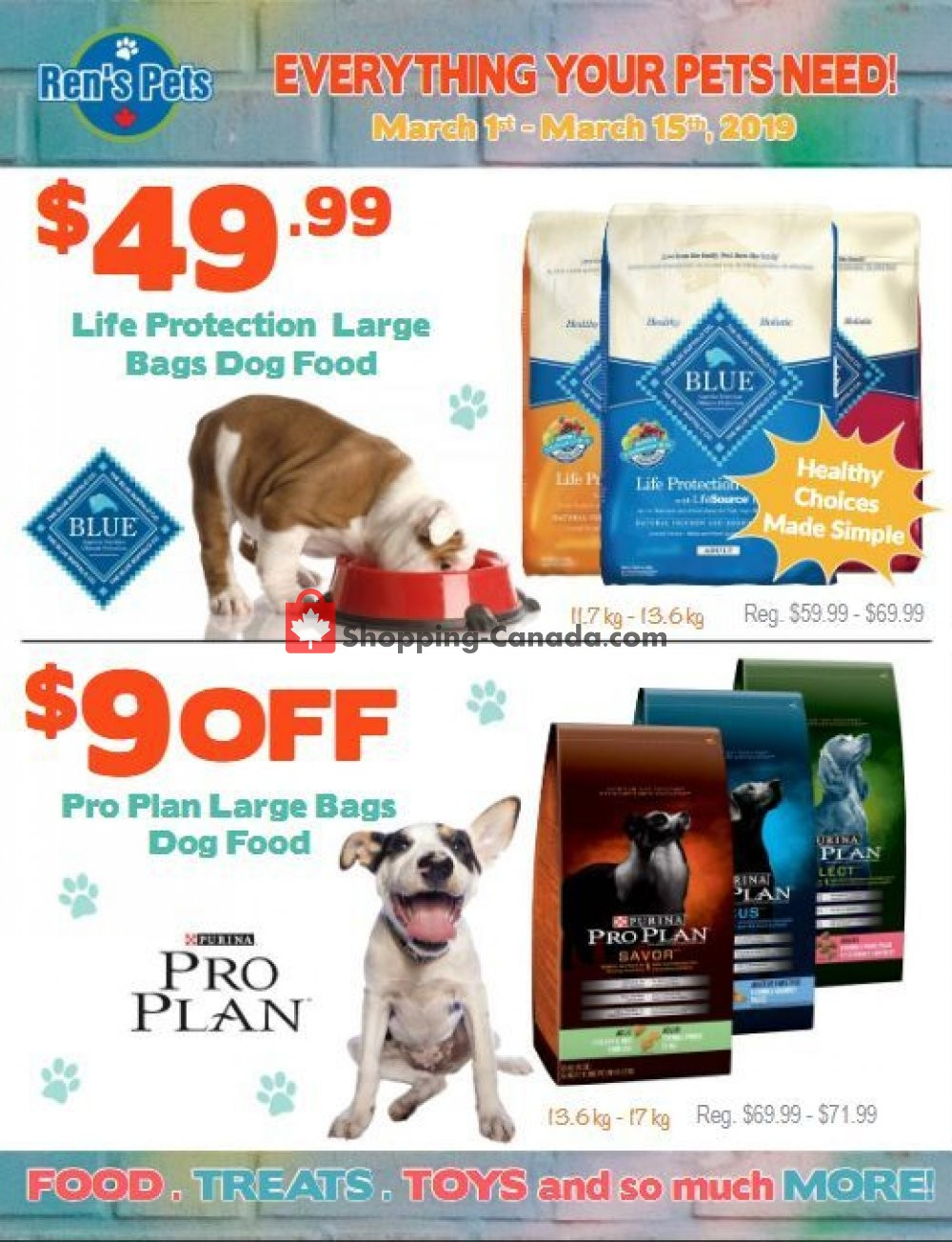 Flyer Ren's Pets Depot Canada - from Friday March 1, 2019 to Friday March 15, 2019
