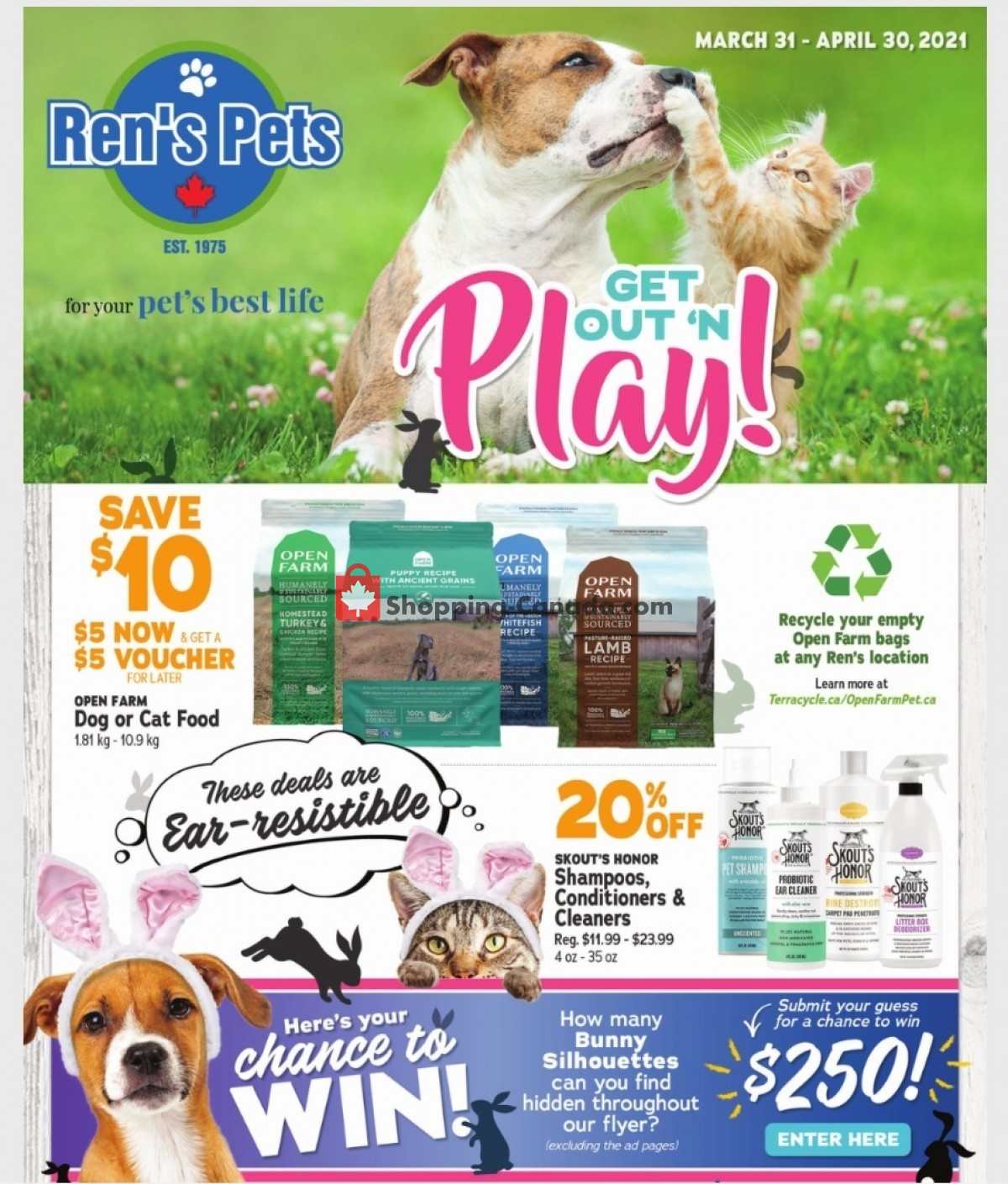 Flyer Ren's Pets Depot Canada - from Wednesday March 31, 2021 to Friday April 30, 2021