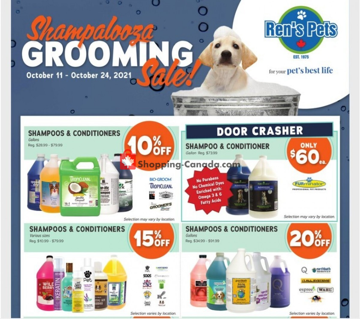 Flyer Ren's Pets Depot Canada - from Monday October 11, 2021 to Sunday October 24, 2021