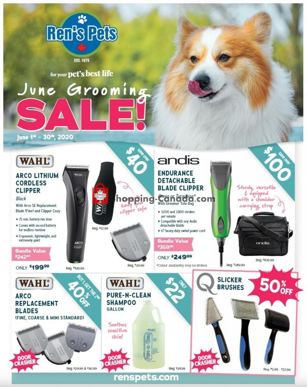 Flyer Ren's Pets Depot Canada - from Monday June 1, 2020 to Tuesday June 30, 2020