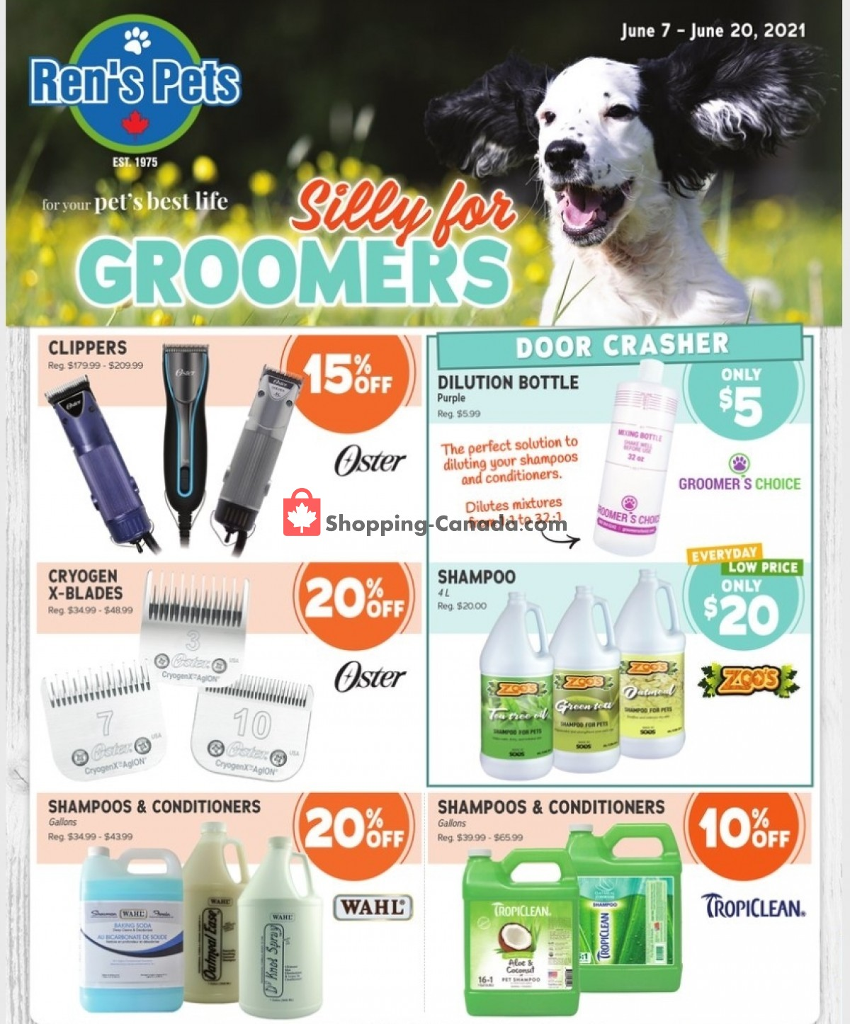 Flyer Ren's Pets Depot Canada - from Monday June 7, 2021 to Sunday June 20, 2021