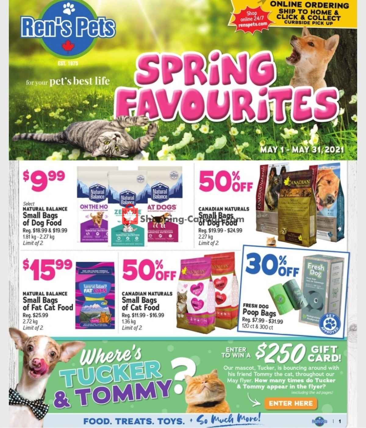 Flyer Ren's Pets Depot Canada - from Saturday May 1, 2021 to Monday May 31, 2021