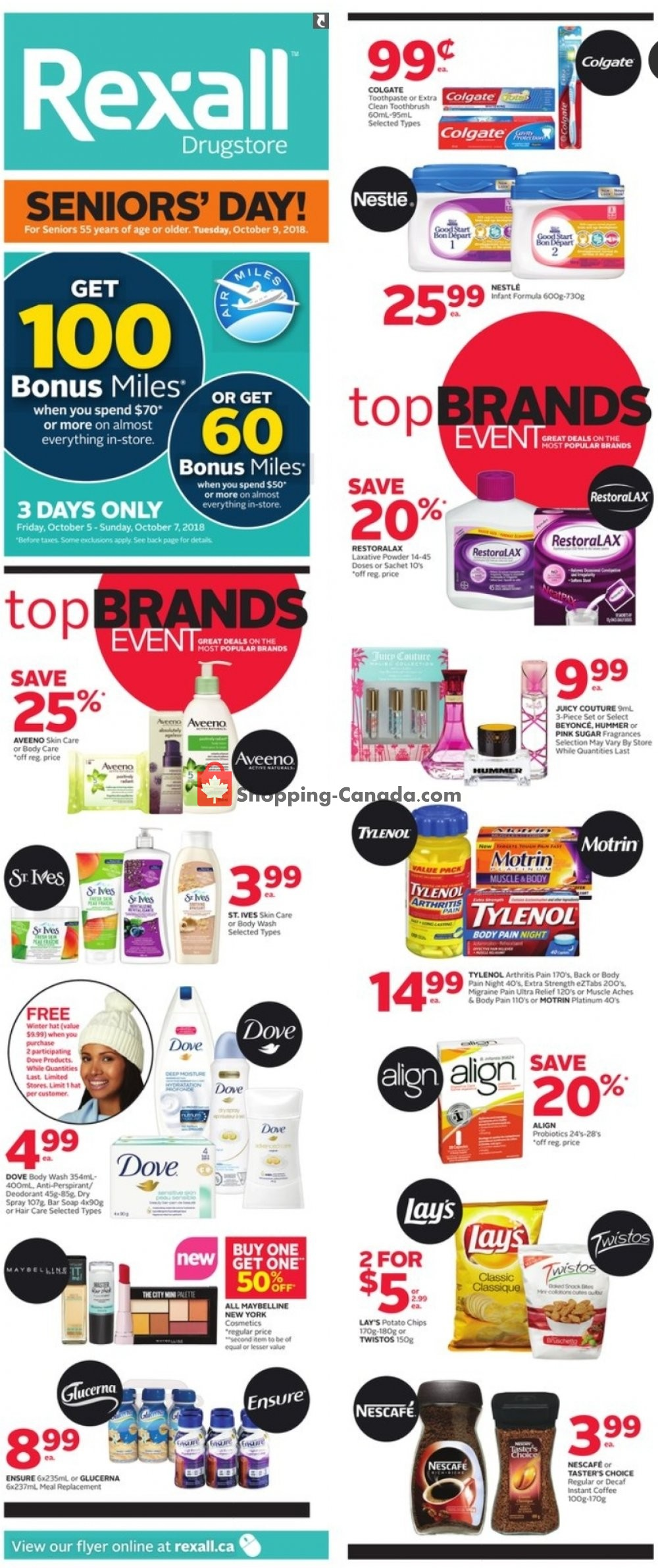 Flyer Rexall Drug Store Canada - from Friday October 5, 2018 to Thursday October 11, 2018