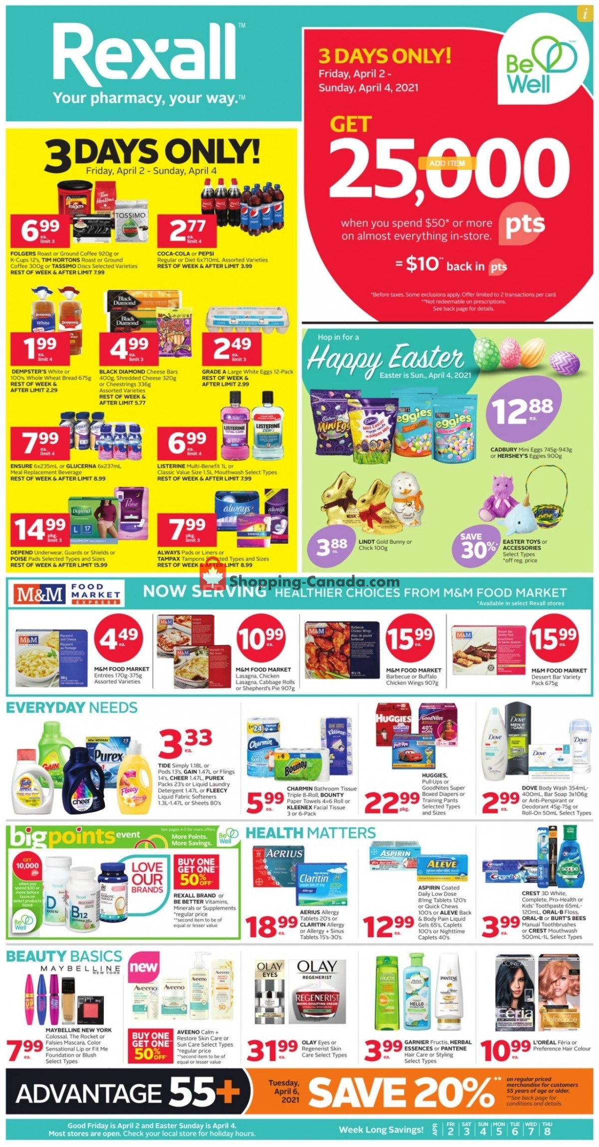 Flyer Rexall Drug Store Canada - from Friday April 2, 2021 to Thursday April 8, 2021