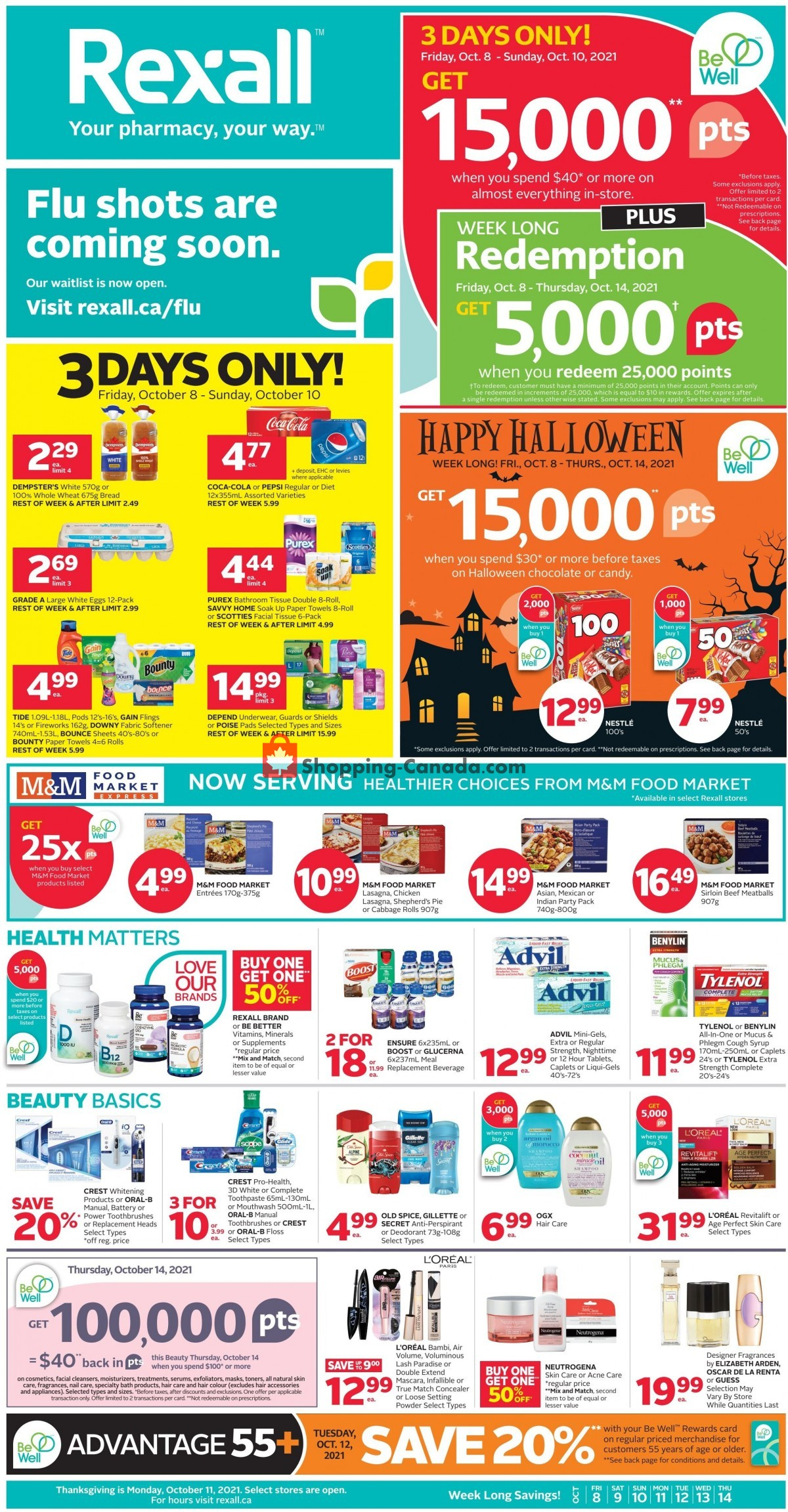 Flyer Rexall Drug Store Canada - from Friday October 8, 2021 to Thursday October 14, 2021