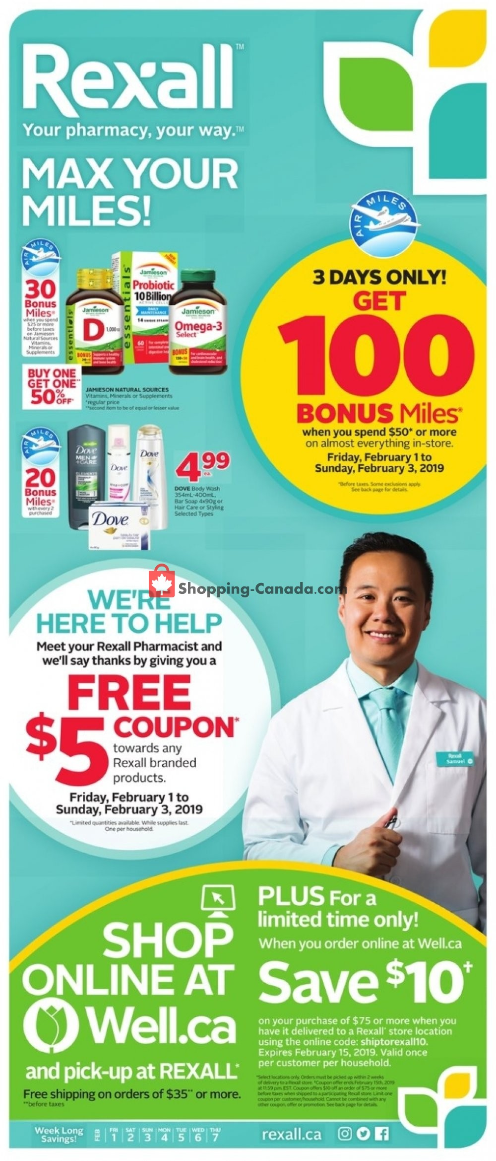 Flyer Rexall Drug Store Canada - from Friday February 1, 2019 to Thursday February 7, 2019