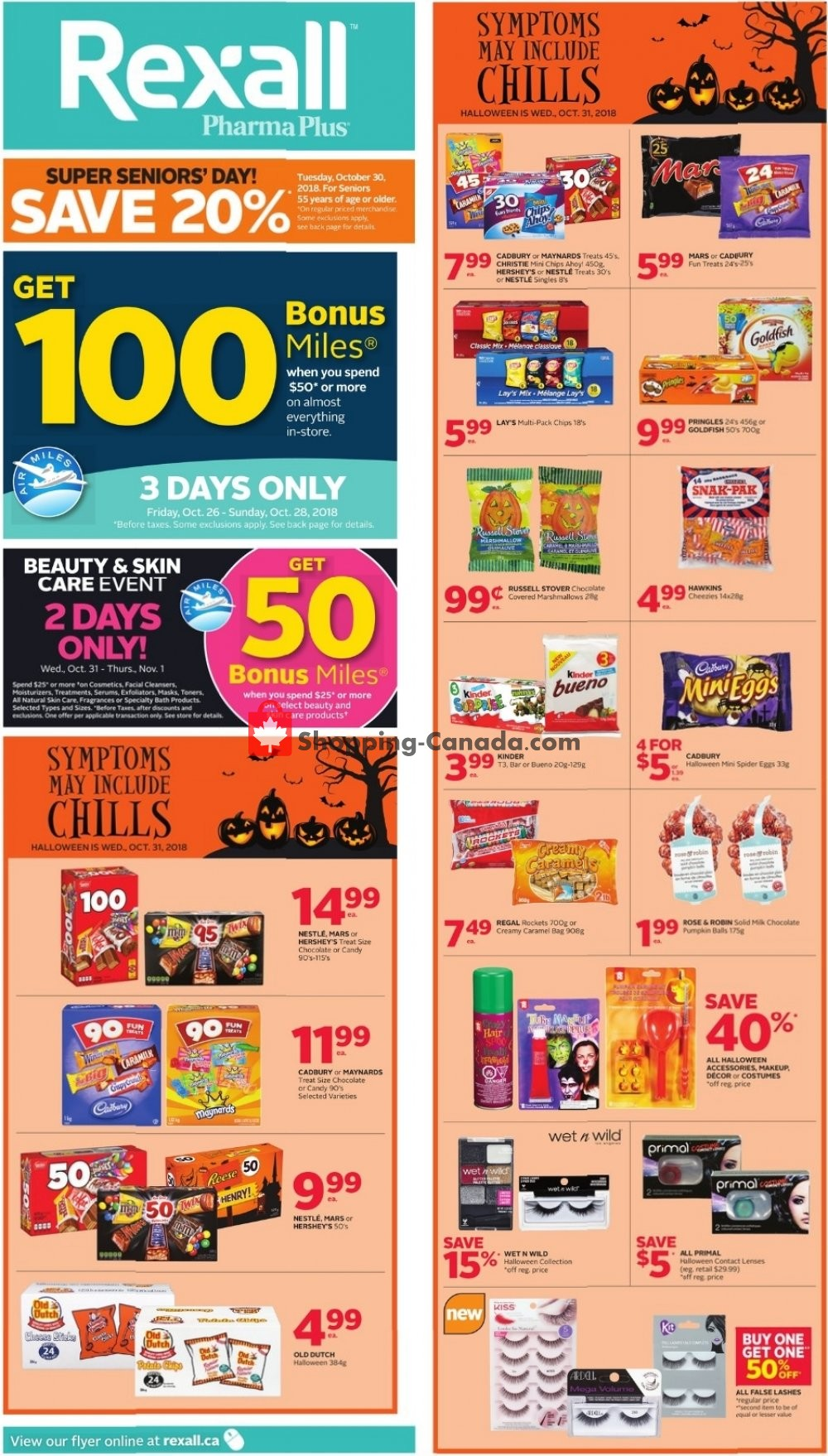 Flyer Rexall Drug Store Canada - from Friday October 26, 2018 to Thursday November 1, 2018
