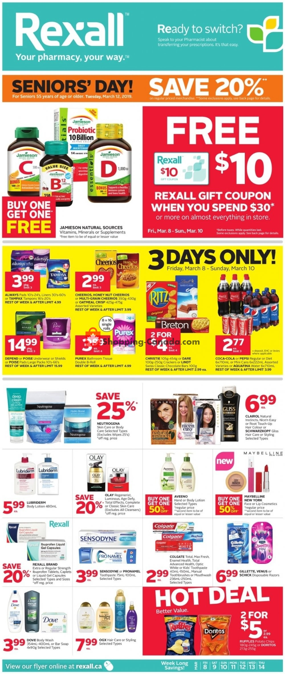 Flyer Rexall Drug Store Canada - from Friday March 8, 2019 to Thursday March 14, 2019
