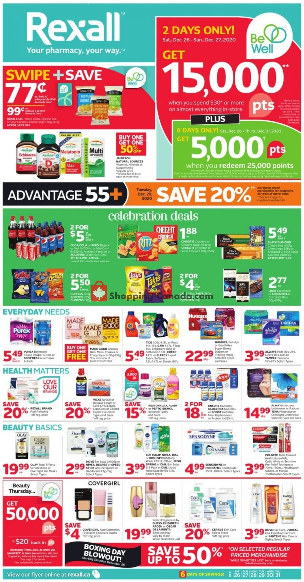 Flyer Rexall Drug Store Canada - from Saturday December 26, 2020 to Thursday December 31, 2020