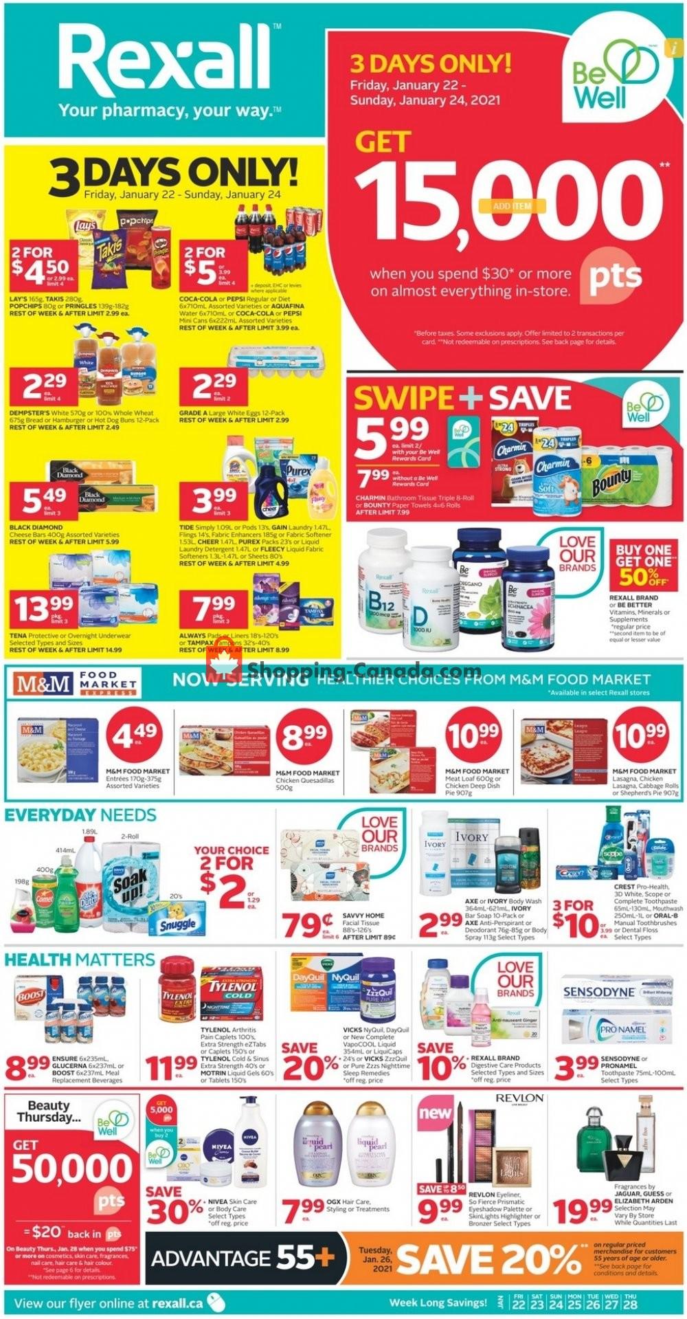 Flyer Rexall Drug Store Canada - from Friday January 22, 2021 to Thursday January 28, 2021
