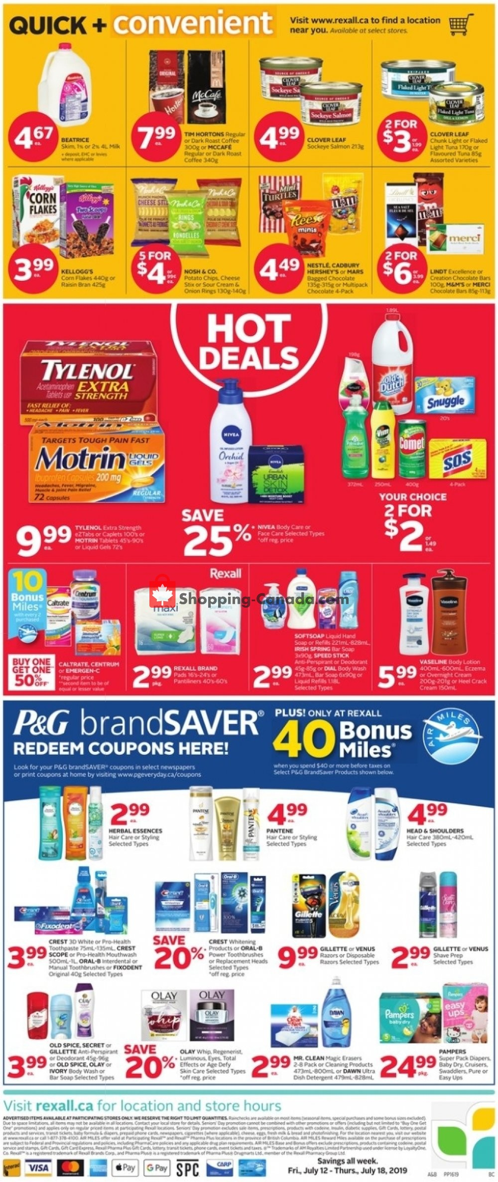 Flyer Rexall Drug Store Canada - from Friday July 12, 2019 to Thursday July 18, 2019