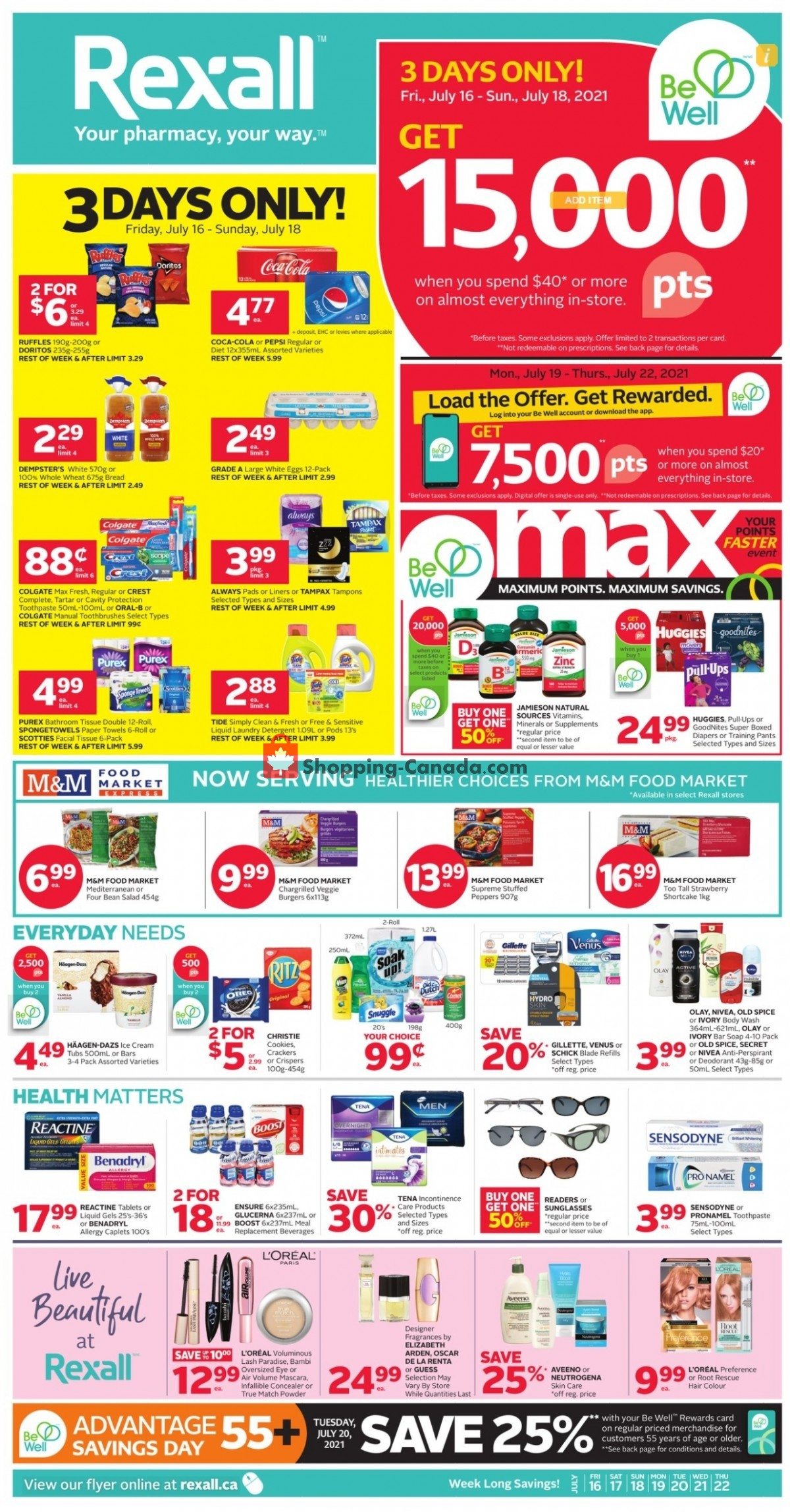 Flyer Rexall Drug Store Canada - from Friday July 16, 2021 to Thursday July 22, 2021