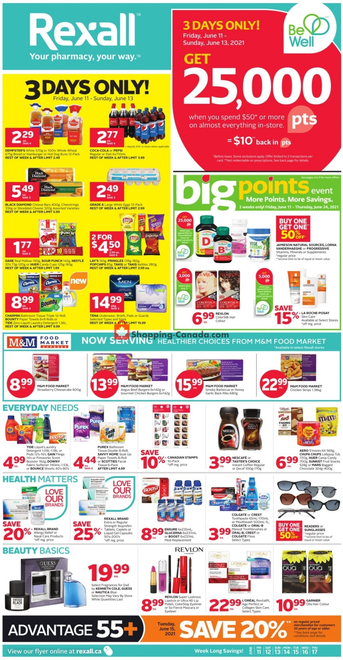 Flyer Rexall Drug Store Canada - from Friday June 11, 2021 to Thursday June 17, 2021