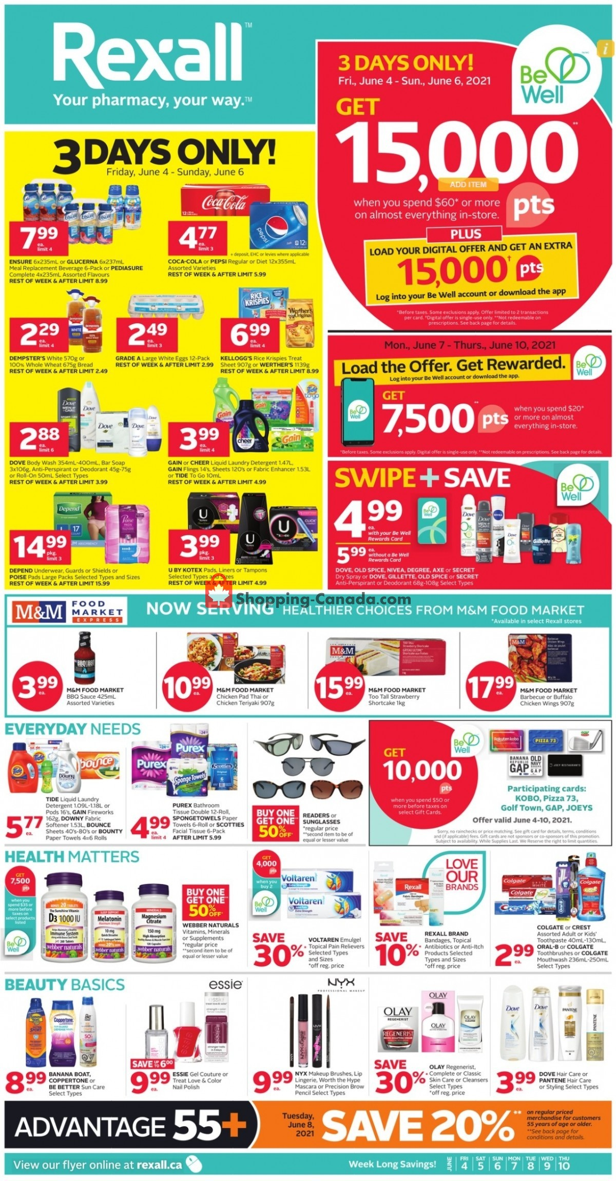 Flyer Rexall Drug Store Canada - from Friday June 4, 2021 to Thursday June 10, 2021