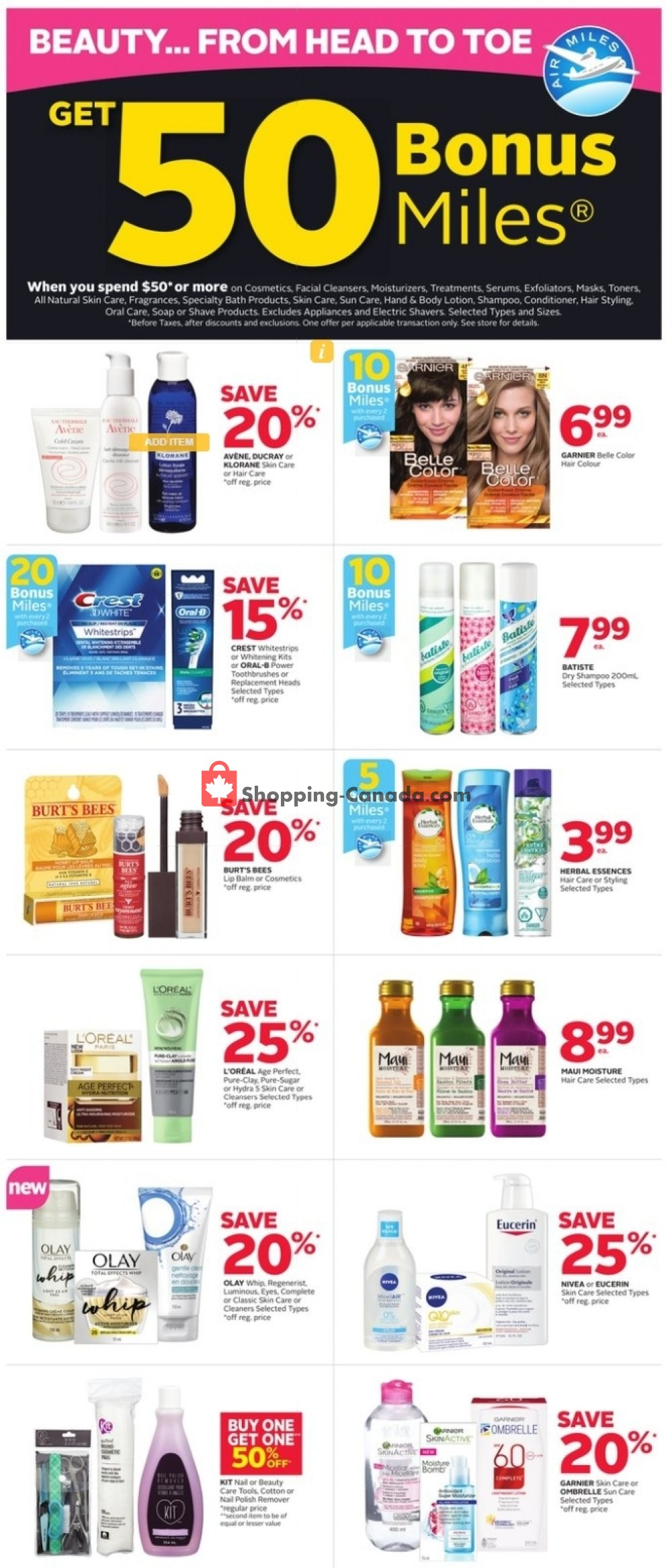 Flyer Rexall Drug Store Canada - from Friday March 15, 2019 to Wednesday March 20, 2019