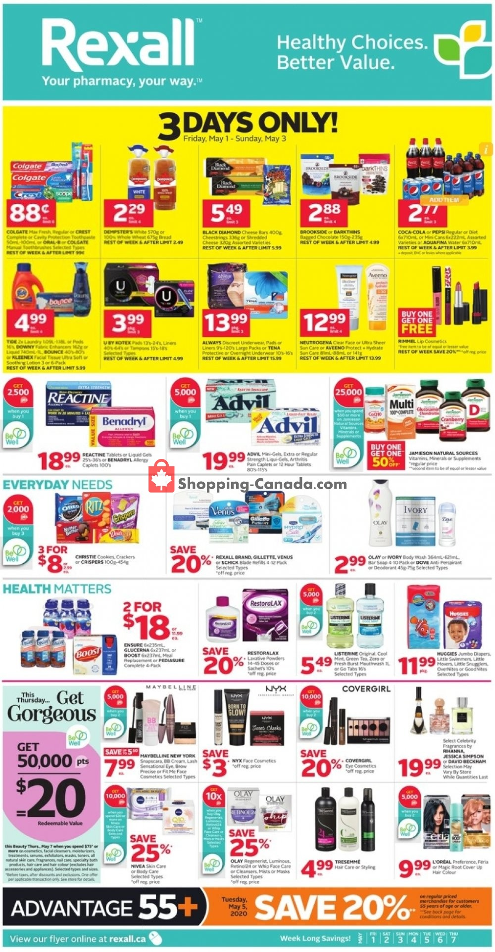 Flyer Rexall Drug Store Canada - from Friday May 1, 2020 to Thursday May 7, 2020