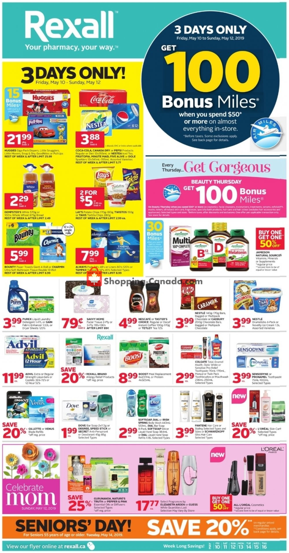 Flyer Rexall Drug Store Canada - from Friday May 10, 2019 to Thursday May 16, 2019