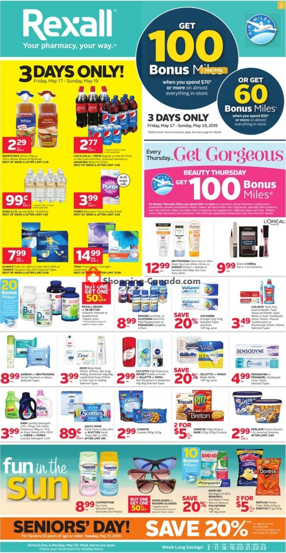 Flyer Rexall Drug Store Canada - from Friday May 17, 2019 to Thursday May 23, 2019