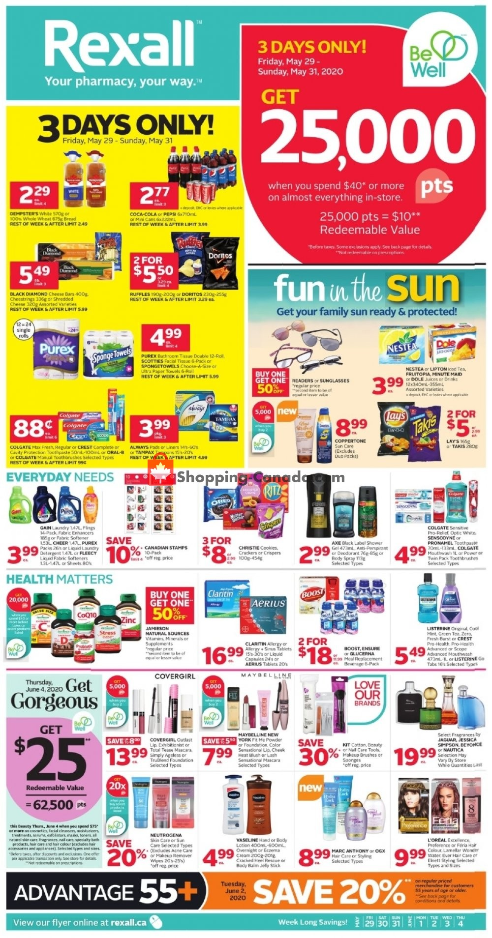 Flyer Rexall Drug Store Canada - from Friday May 29, 2020 to Thursday June 4, 2020
