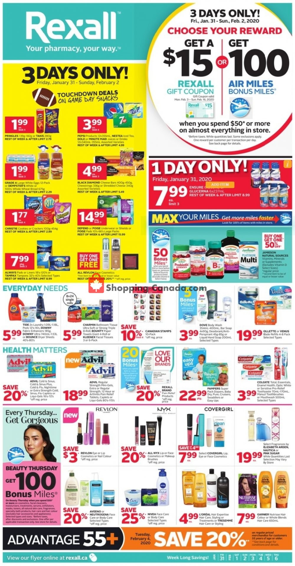Flyer Rexall Drug Store Canada - from Friday January 31, 2020 to Thursday February 6, 2020