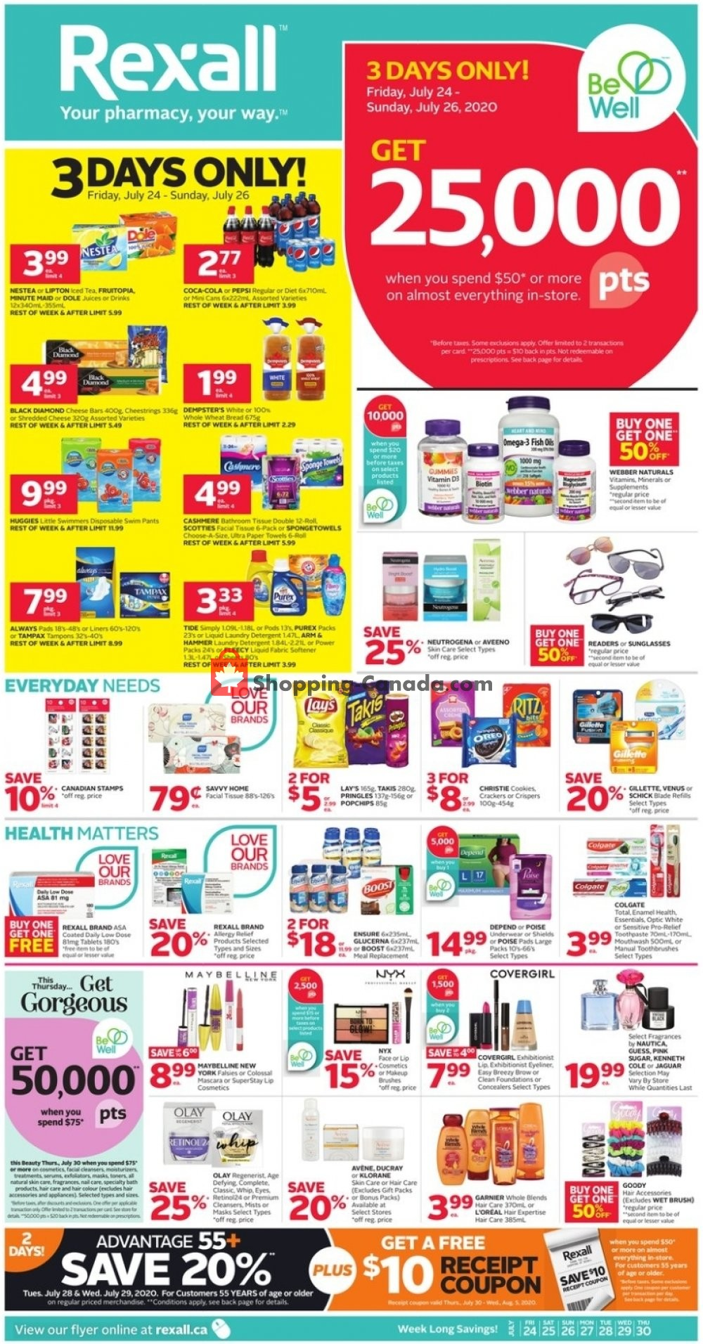 Flyer Rexall Drug Store Canada - from Friday July 24, 2020 to Thursday July 30, 2020