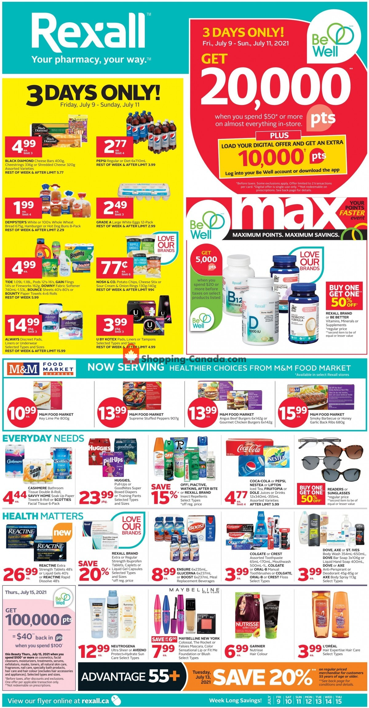 Flyer Rexall Drug Store Canada - from Friday July 9, 2021 to Thursday July 15, 2021