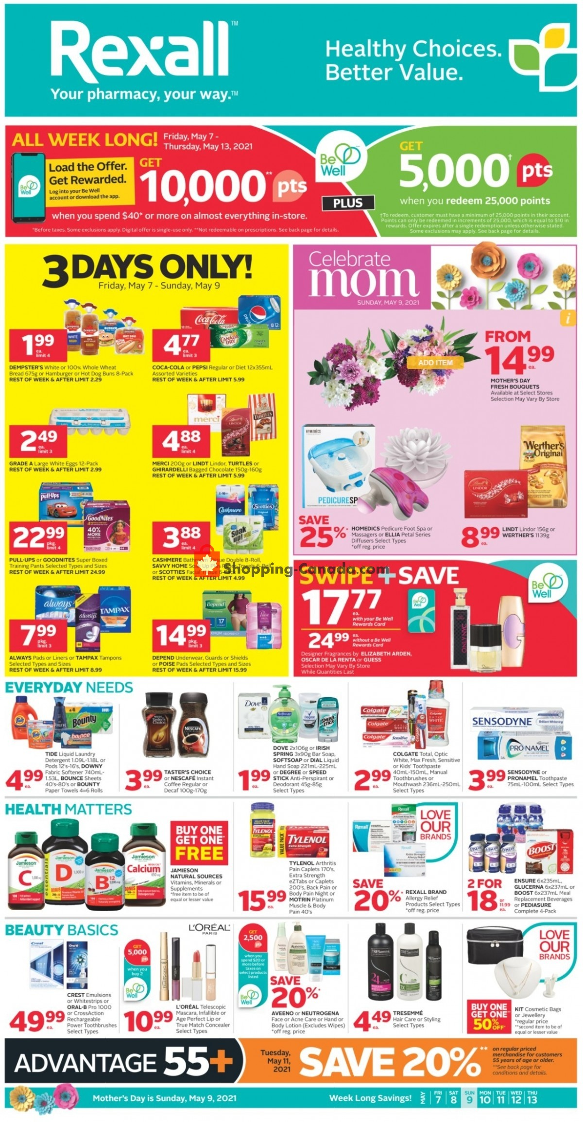 Flyer Rexall Drug Store Canada - from Friday May 7, 2021 to Thursday May 13, 2021