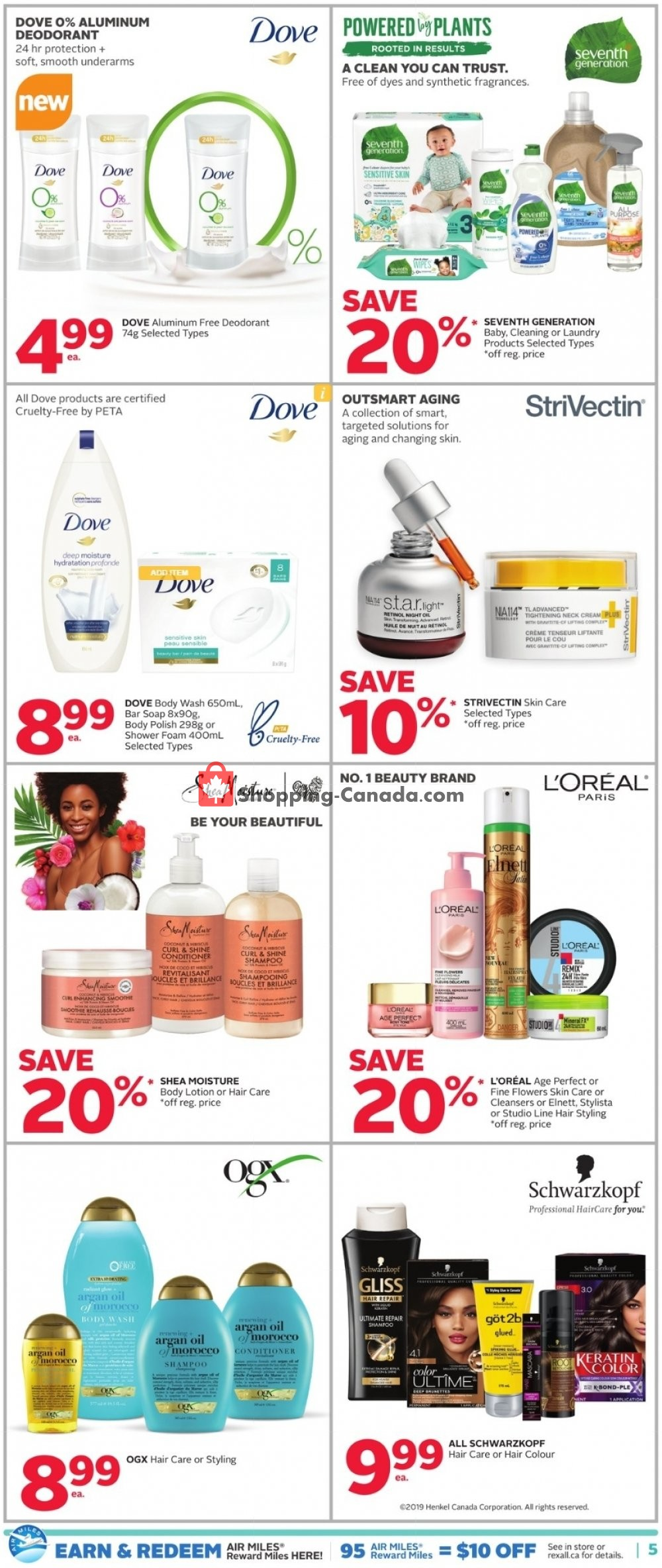 Flyer Rexall Drug Store Canada - from Friday September 6, 2019 to Thursday September 12, 2019