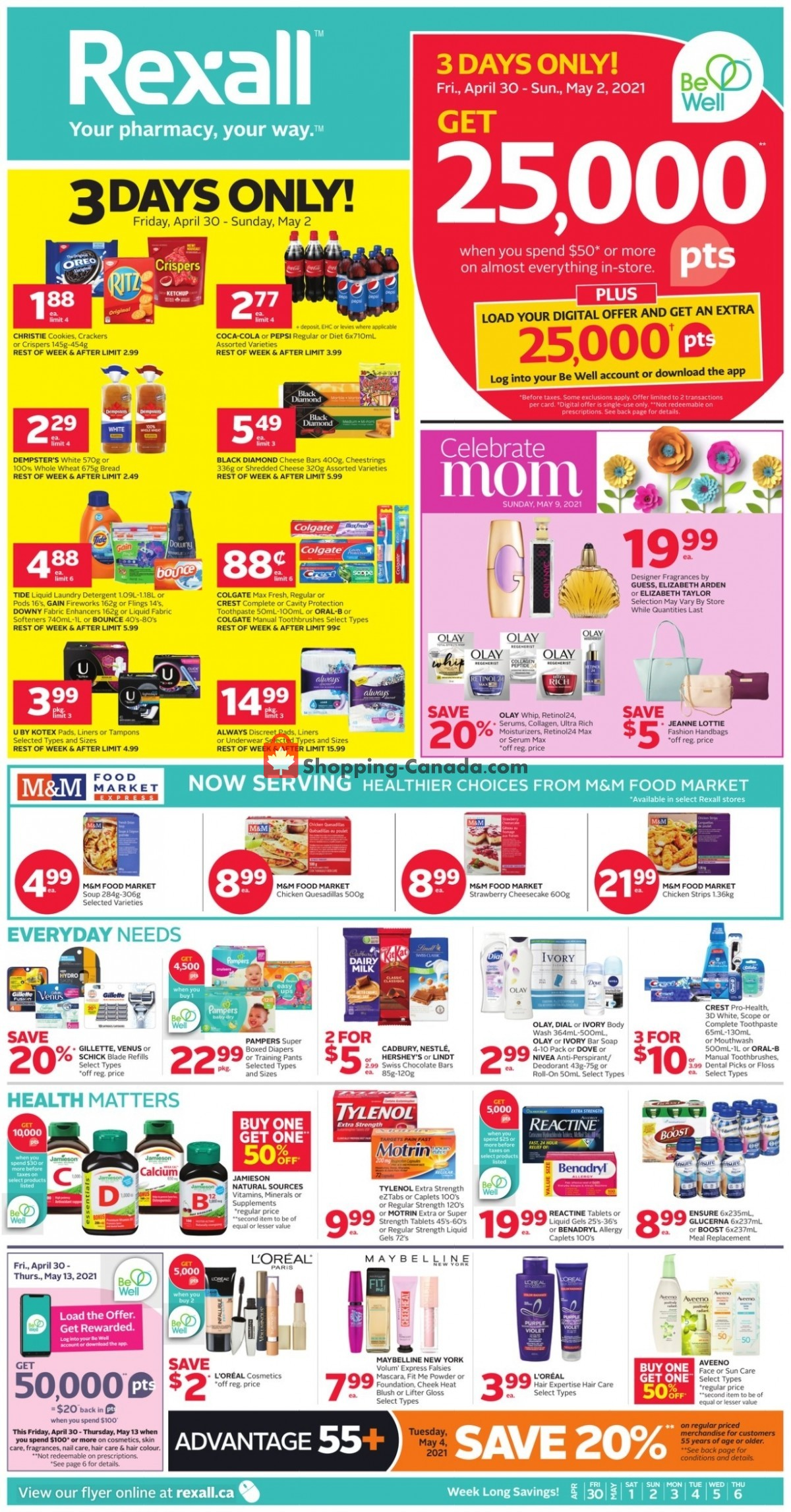 Flyer Rexall Drug Store Canada - from Friday April 30, 2021 to Thursday May 6, 2021